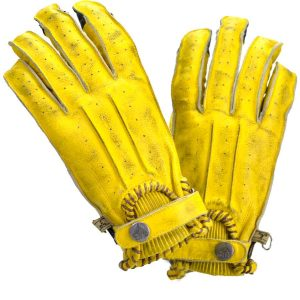 Guanti second skin man giallo